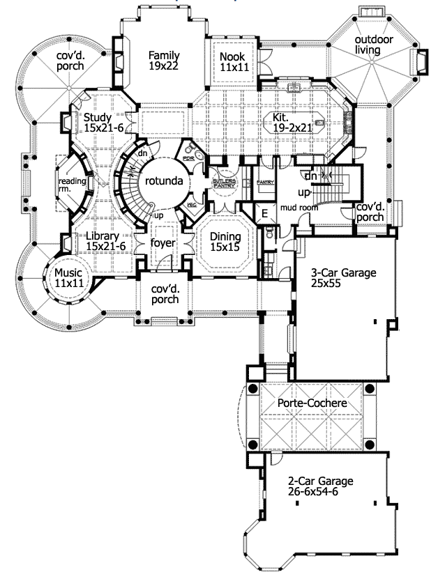 10 000 Square Foot Newport Ca Mansion Main Level Floor Plan Luxury House Plans Floor Plans House Plans