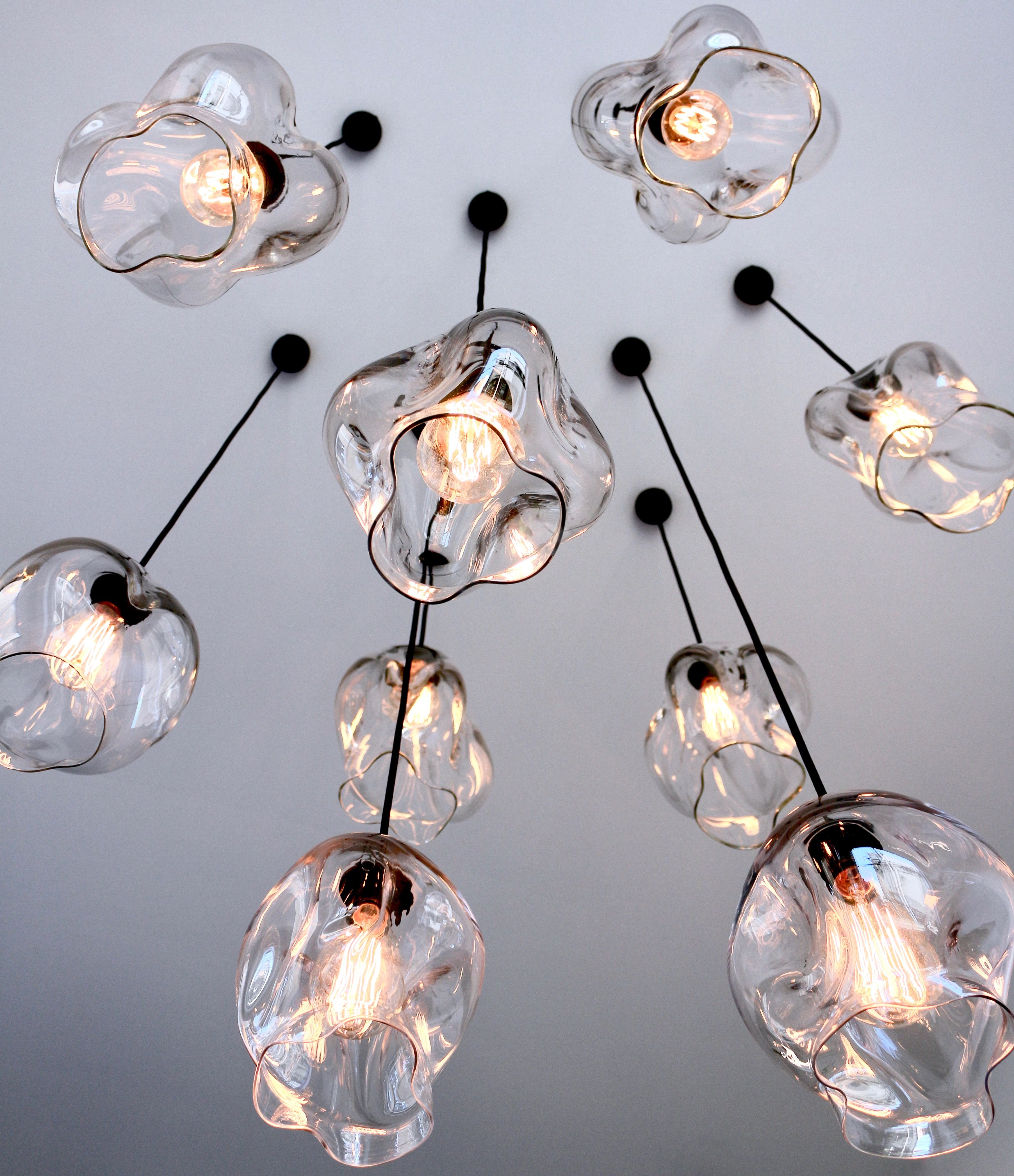 hand blown glass pendant lighting. Pendant Lights. Designed And Made By Oliver Höglund. Hand-blown Glass Give Your Empty Stairwell Or Entrance Void A One Of Kind Statement Hand Blown Lighting
