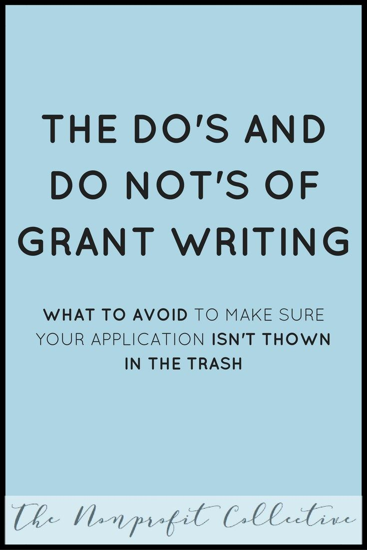 The Do\'s and Do Not\'s of Grant Writing | Pinterest | Finanzas y Parrilla