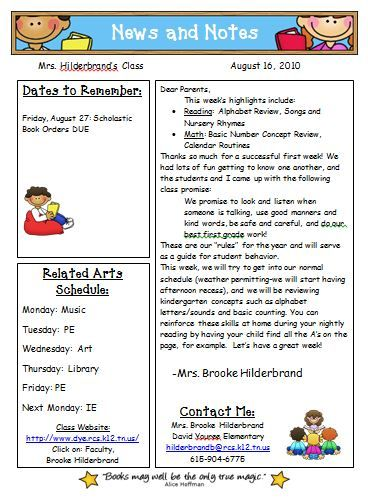 Monthly Newsletter Newsletter Examples Classroom School Parenting