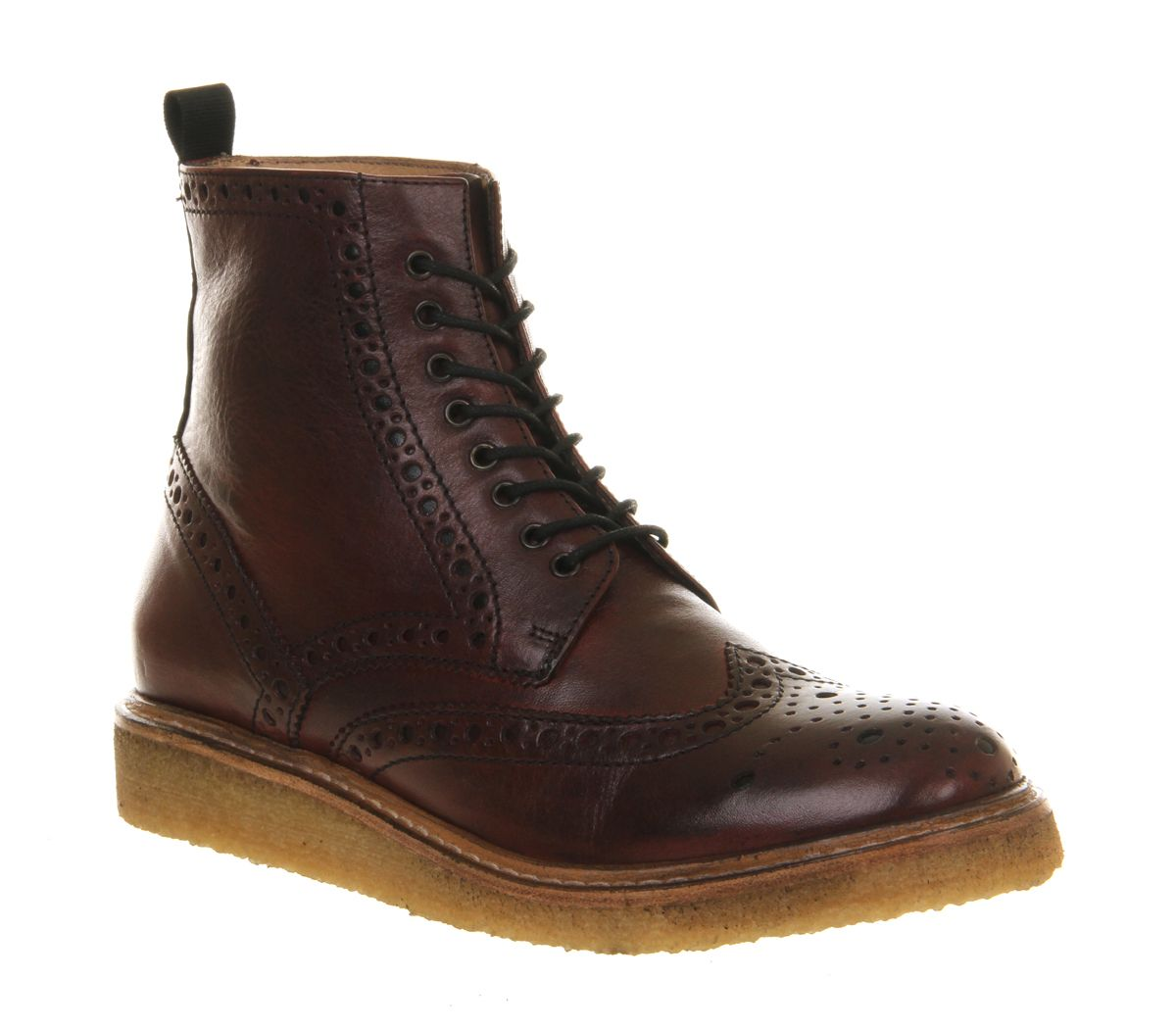 Burgundy Leather Poste Mistress Chloe Brogue Boots From Office Co Uk