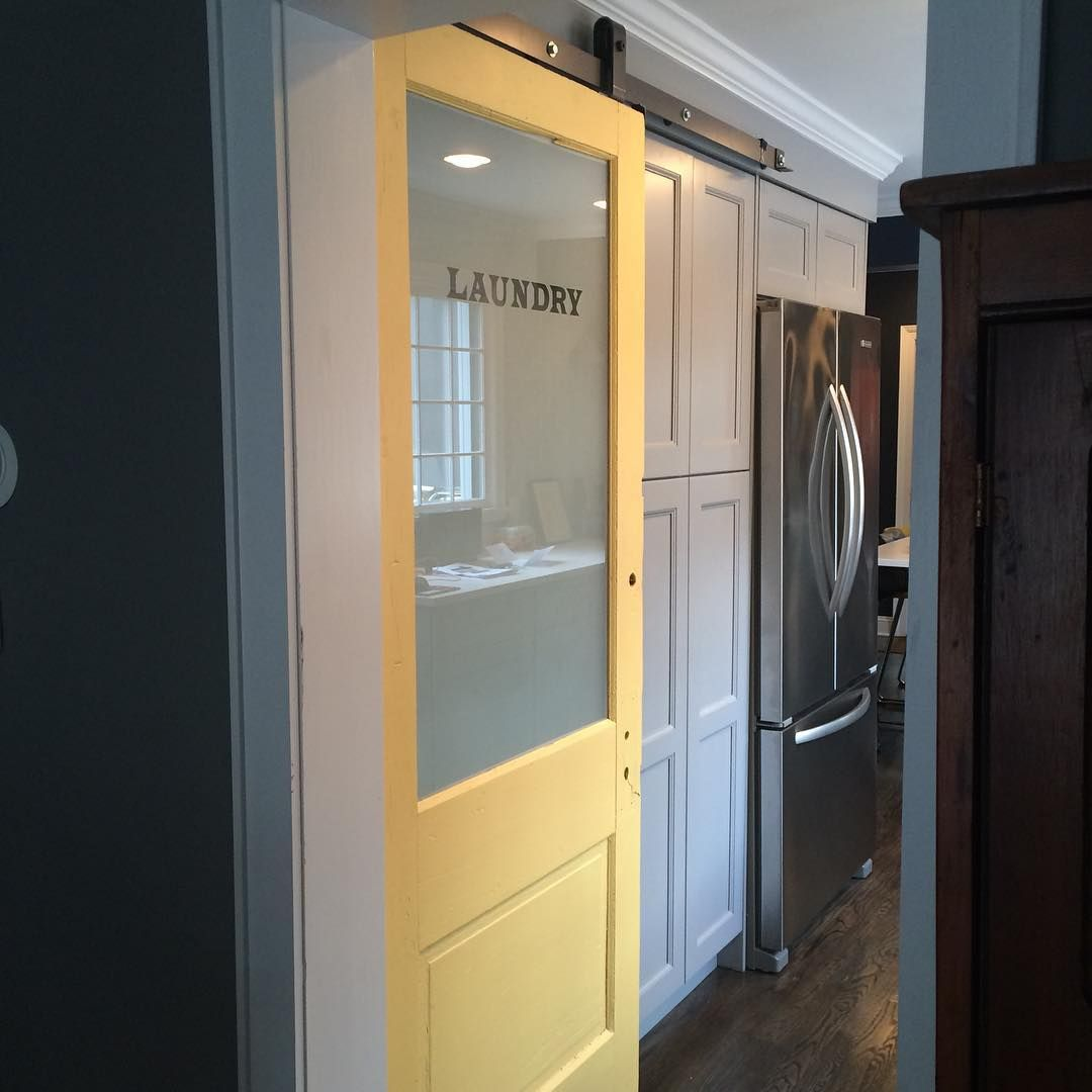 Gorgeous Sliding Yellow Barn Door To Make Sure Even Your Chores Feel