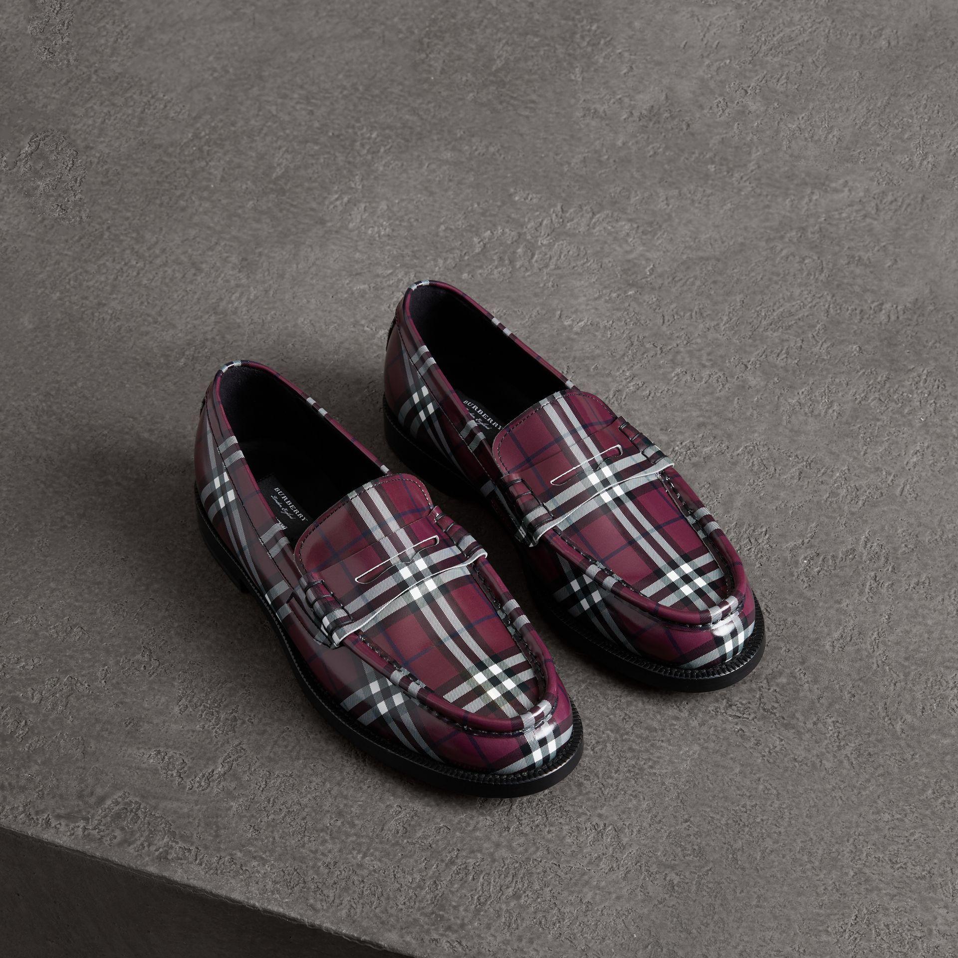 aa12e723c18aa BURBERRY Gosha x Burberry Check Leather Loafers. #burberry #shoes ...