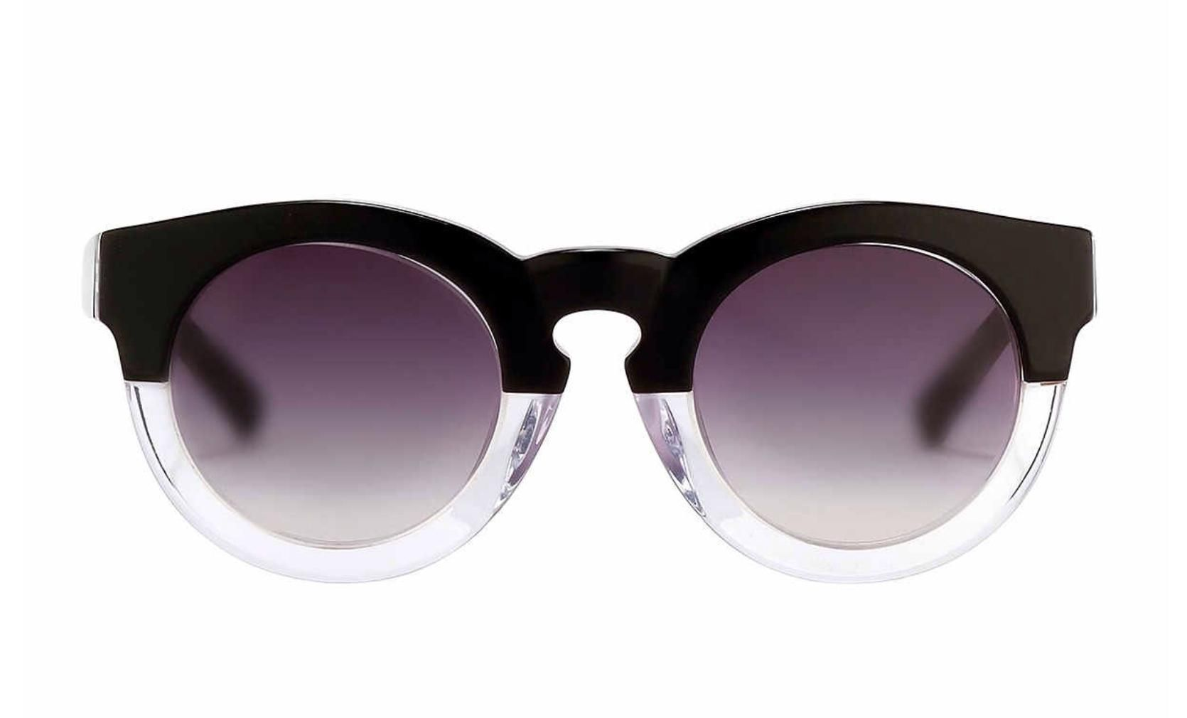 7d60e6d3c827 Free shipping and guaranteed authenticity on New Two Tone Keyhole Round  Frame Sunglasses