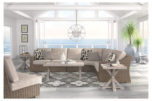 Beachcroft Rectangular Cocktail Table   Outdoor seating ... on Beachcroft Beige Outdoor Living Room Set id=34701