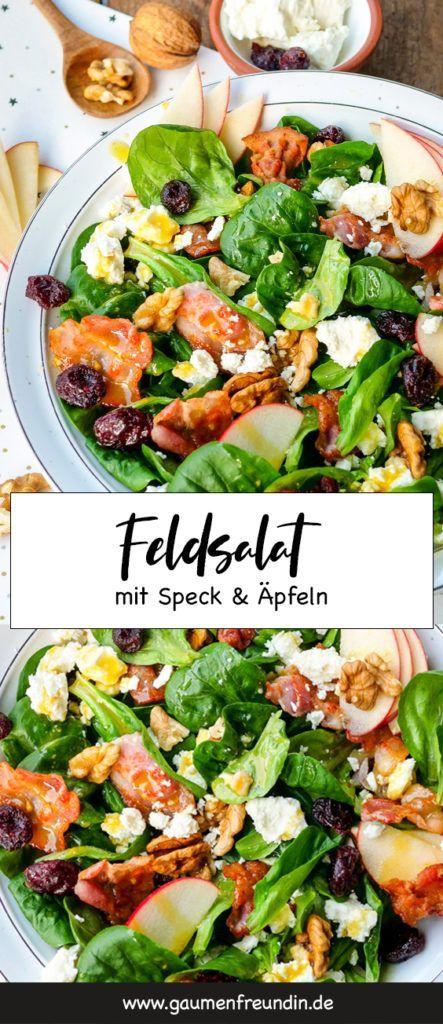 Feldsalat mit Speck, Äpfeln und Walnüssen #sandwichrecipes