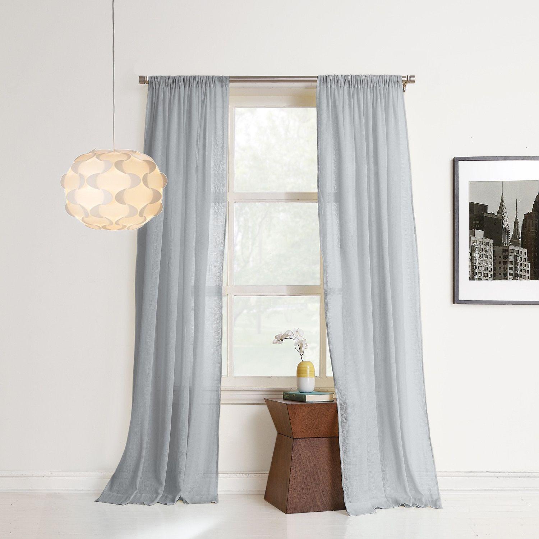 No curtain window ideas  no  hendricks sheer cotton gauze window curtain inch in