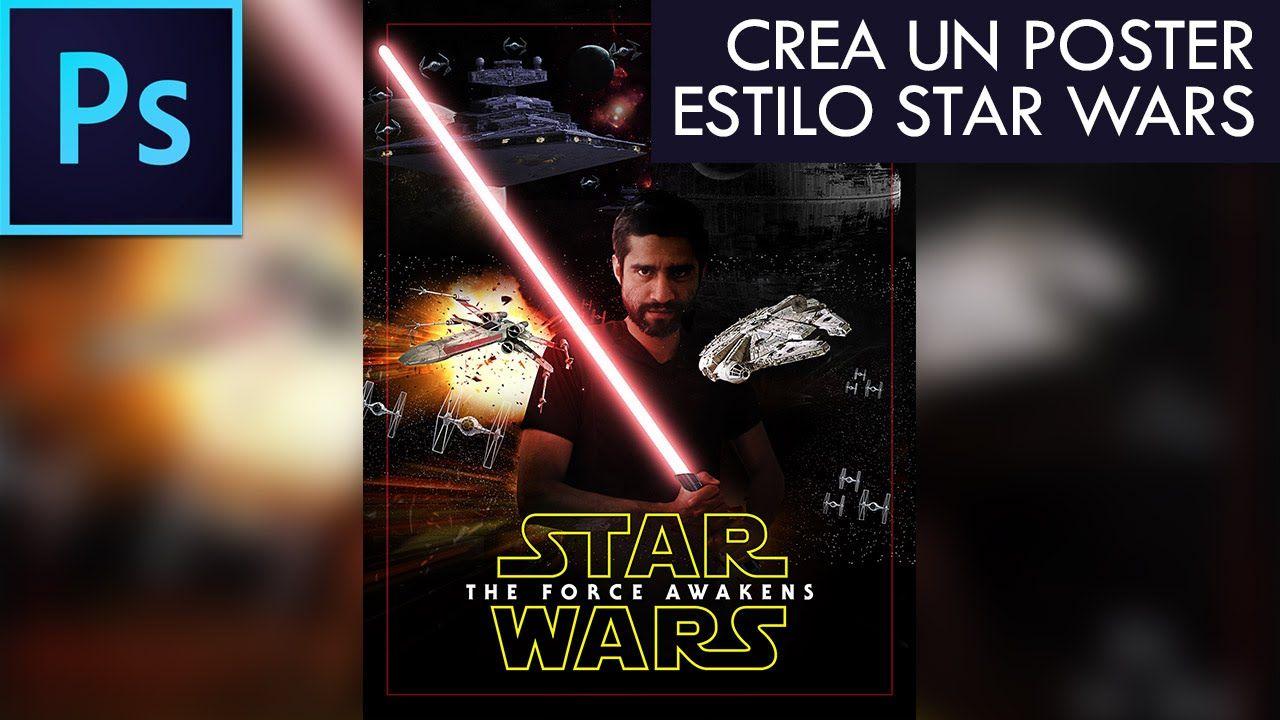 Photoshop CC Tutorial #11 - Crea un poster estilo STAR WARS | Español
