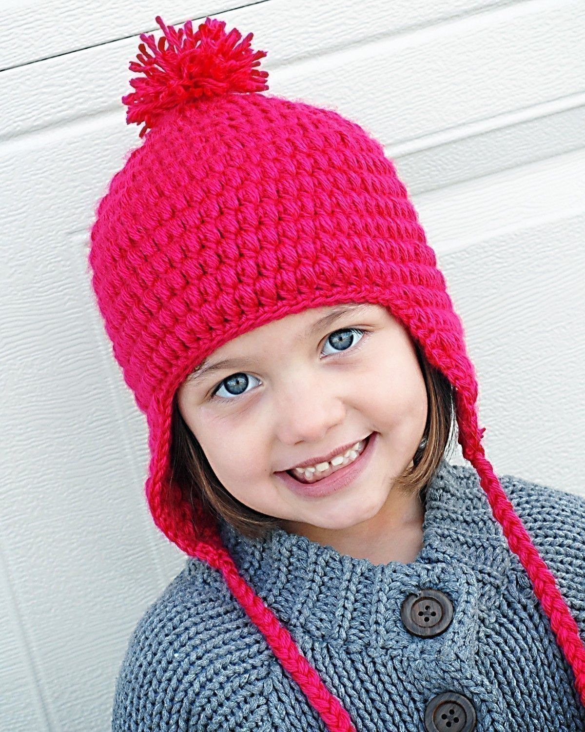 Puffy Earflap Hat Crochet Pattern (Permission to sell all finished ...
