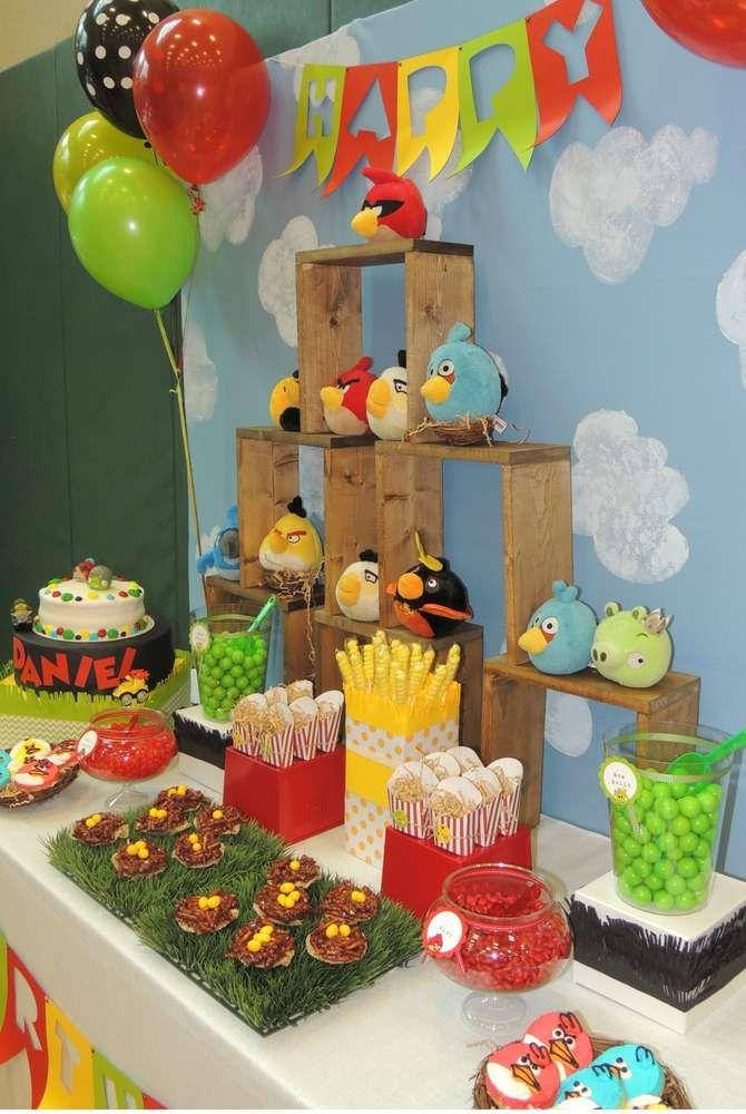 Angry Birds Birthday Party Ideas   Decor   Bird birthday ...
