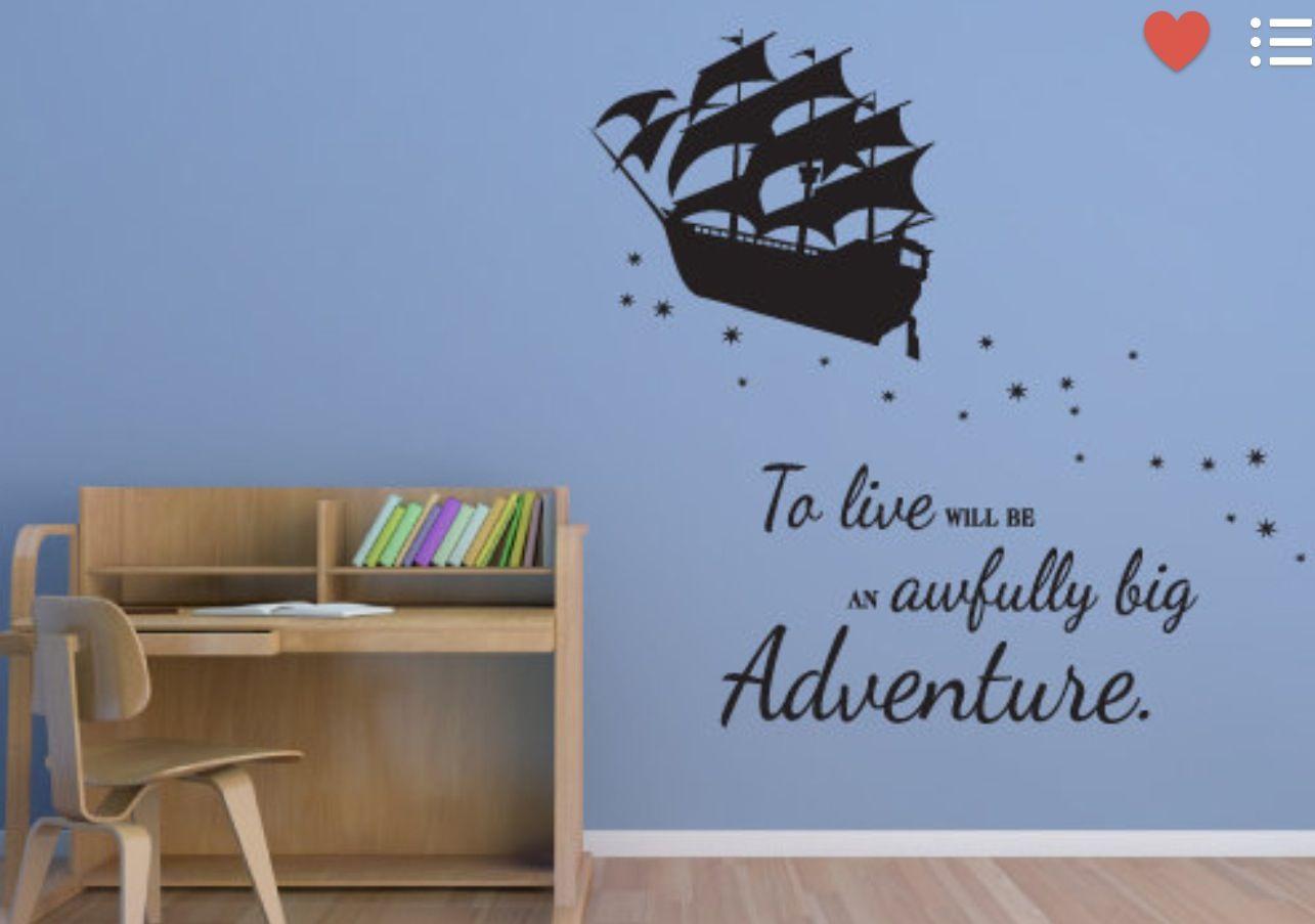 Peter Pan wall decal | Inspirational Wall Art Sings | Pinterest ...