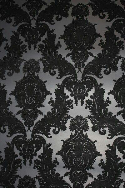 Prefer It In Red And Gold Flock Wallpaper Velvet Wallpaper Damask