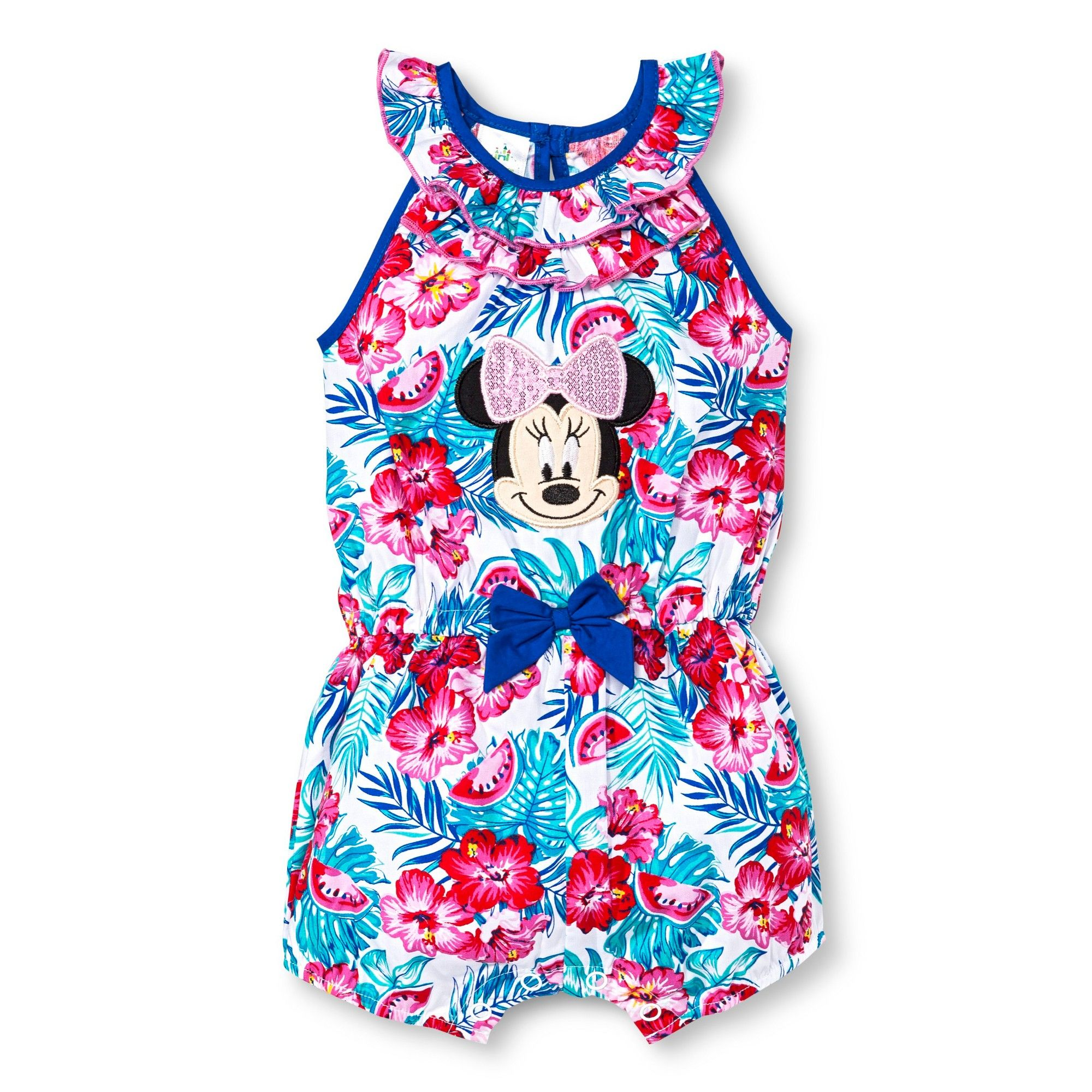 d6e6d1430a43 Disney Minnie Mouse Baby Girls  Romper - White 12M