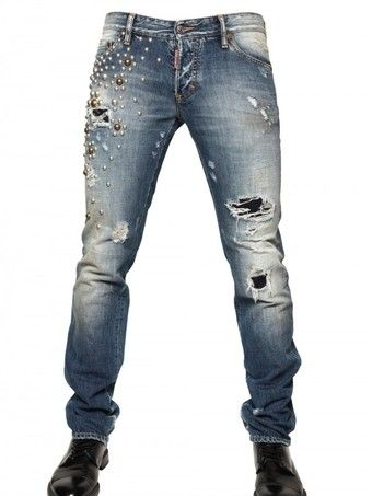 Dsquared2 Round Fit 19cm Jeans Studded Slim nkw0X8OP
