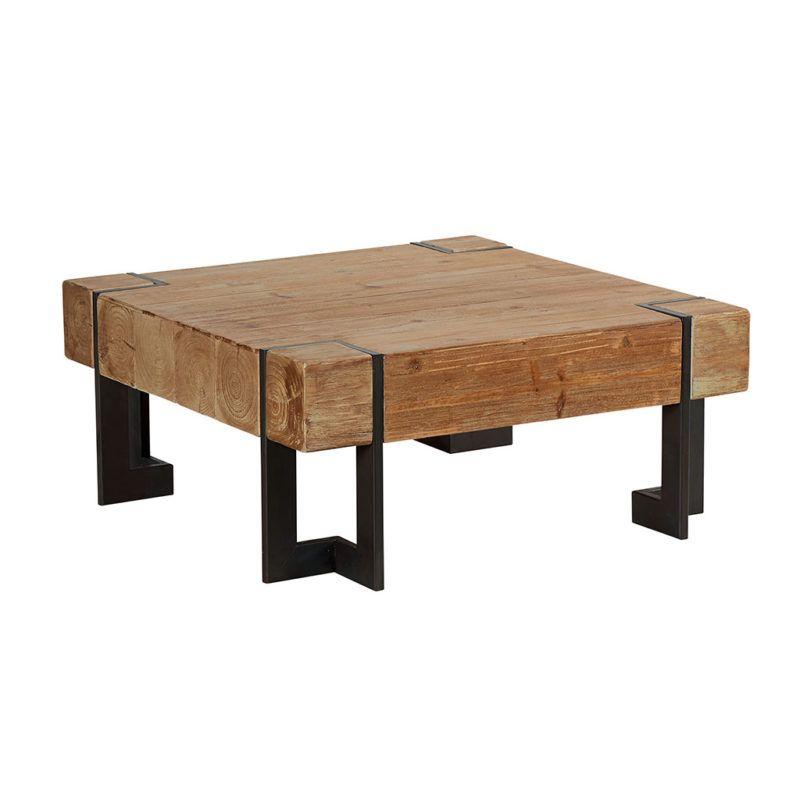 f359cbc1a0e5c Table basse industrielle roulettes LANDAISE