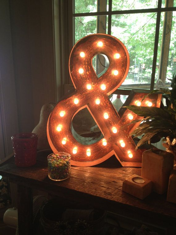 Make? As seen in West Elm 24 in. Marquee Lighted by KDBRusticVintage, $219.00