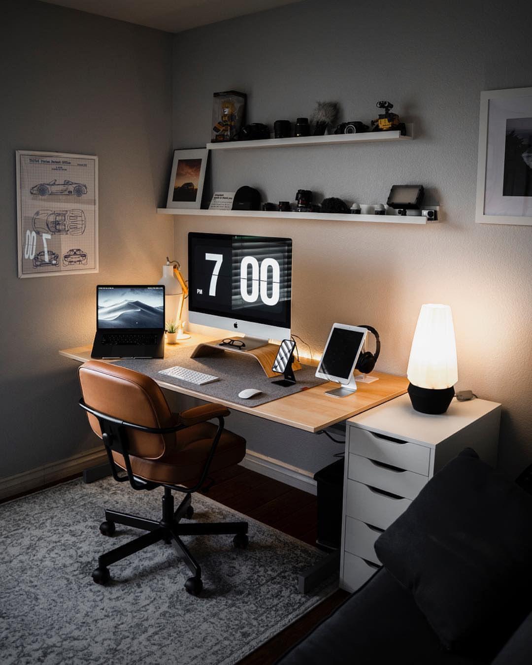 "Minimal Office Setup on Instagram: ""🖥 @michsoledesign """
