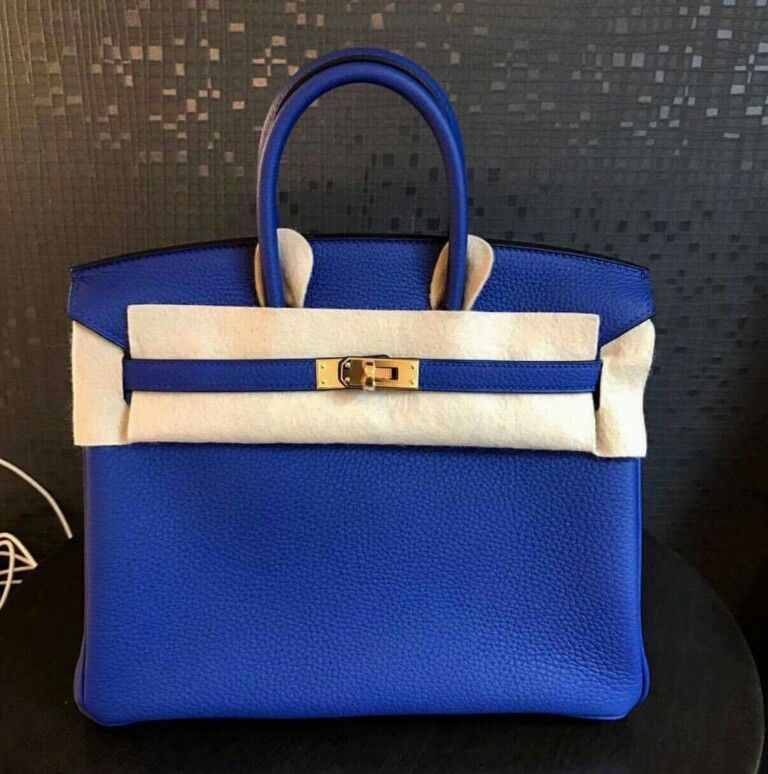 dc4dcec6fd74 Model  Hermes Birkin 25 Condition  New Stamp  A Color  Blue Electric Leather