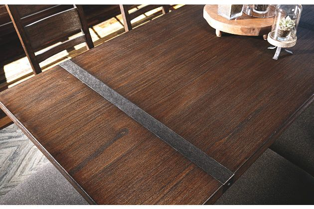 Medium Brown Zenfield Dining Room Table View 2 Dining Room Table