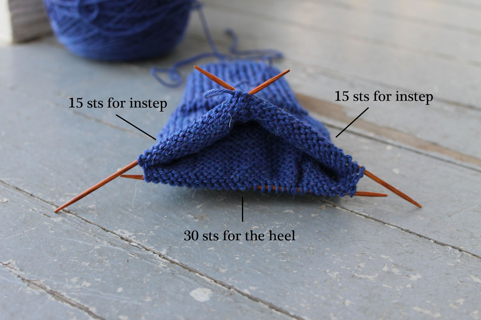 How to knit loops with knitting needles