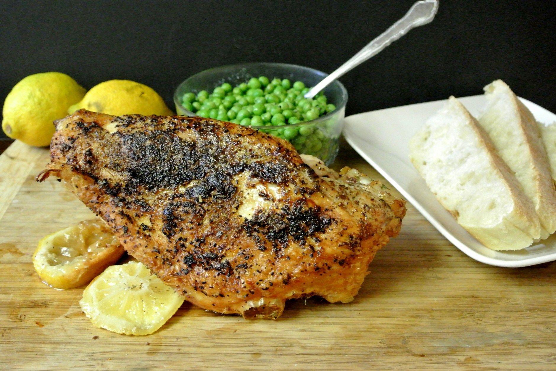 Herb roasted turkey breast with pan gravy recipe