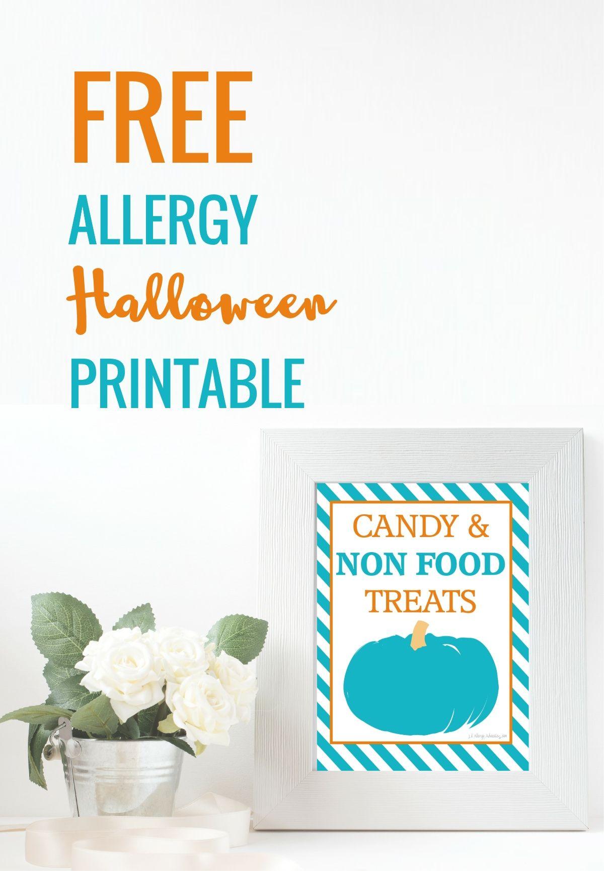 photograph regarding Teal Pumpkin Printable identified as No cost printable teal pumpkin poster for Halloween. Non Sweet