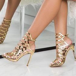 5e57b357c3d Shoespie Trendy Peep Toe Stiletto Heel Strappy Dress Sandals in 2019 ...