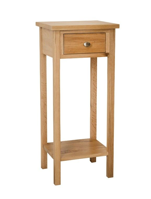 Simply Oak Small Telephone Table Oak Furniture Living Room
