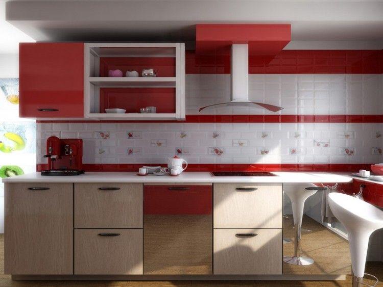 Crédence cuisine moderne pour un intérieur chic et original ! - carrelage mur cuisine moderne