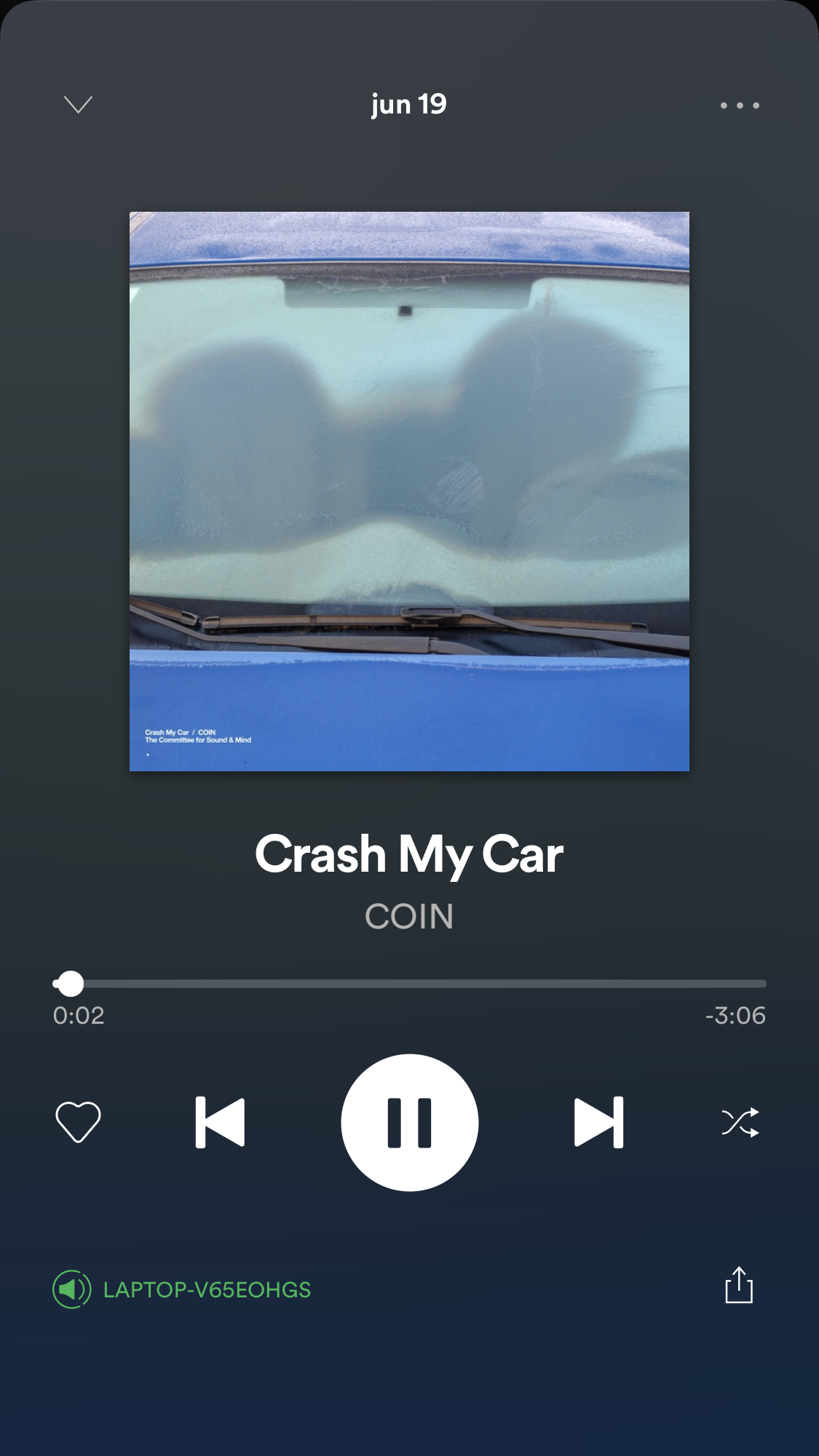 Crash My Car COIN Music mood, Music playlist, Spotify