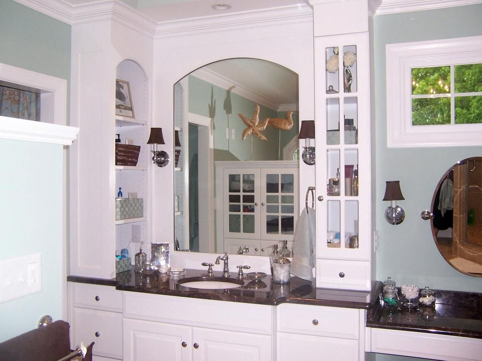 Painted In Light Blue This Spa Like Bathroom With White