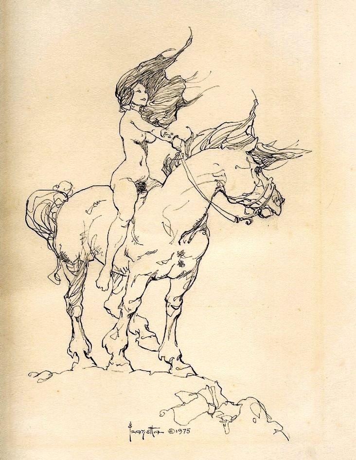 Girl on Horse / 1975 (Frank Frazetta) | Booody | Pinterest | Frank ...