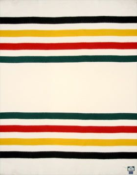 The Clic Glacier National Park Blanket Pendleton Woolen Mills Sometimes Labeled Hudson S Bay Point Textile Stripes Color