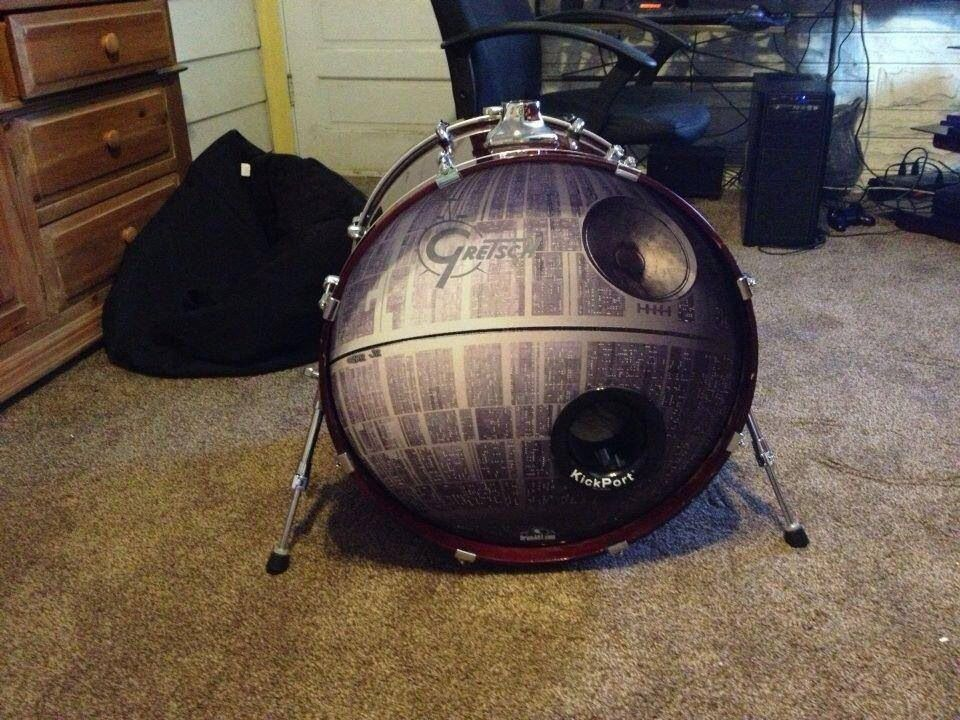 cool star wars themed bass drum head music. Black Bedroom Furniture Sets. Home Design Ideas