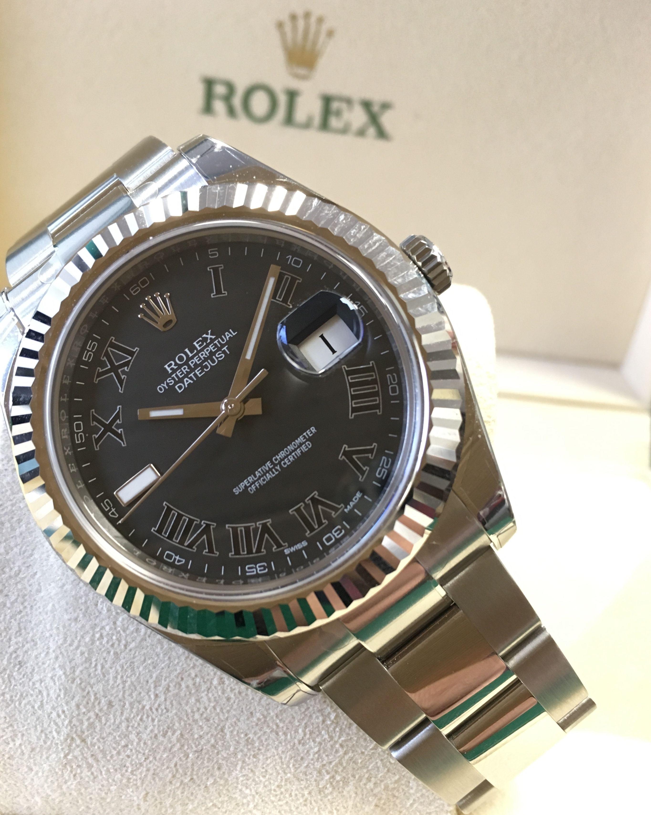 Rolex Datejust II Black Roman Dial 116334  9091472ebe