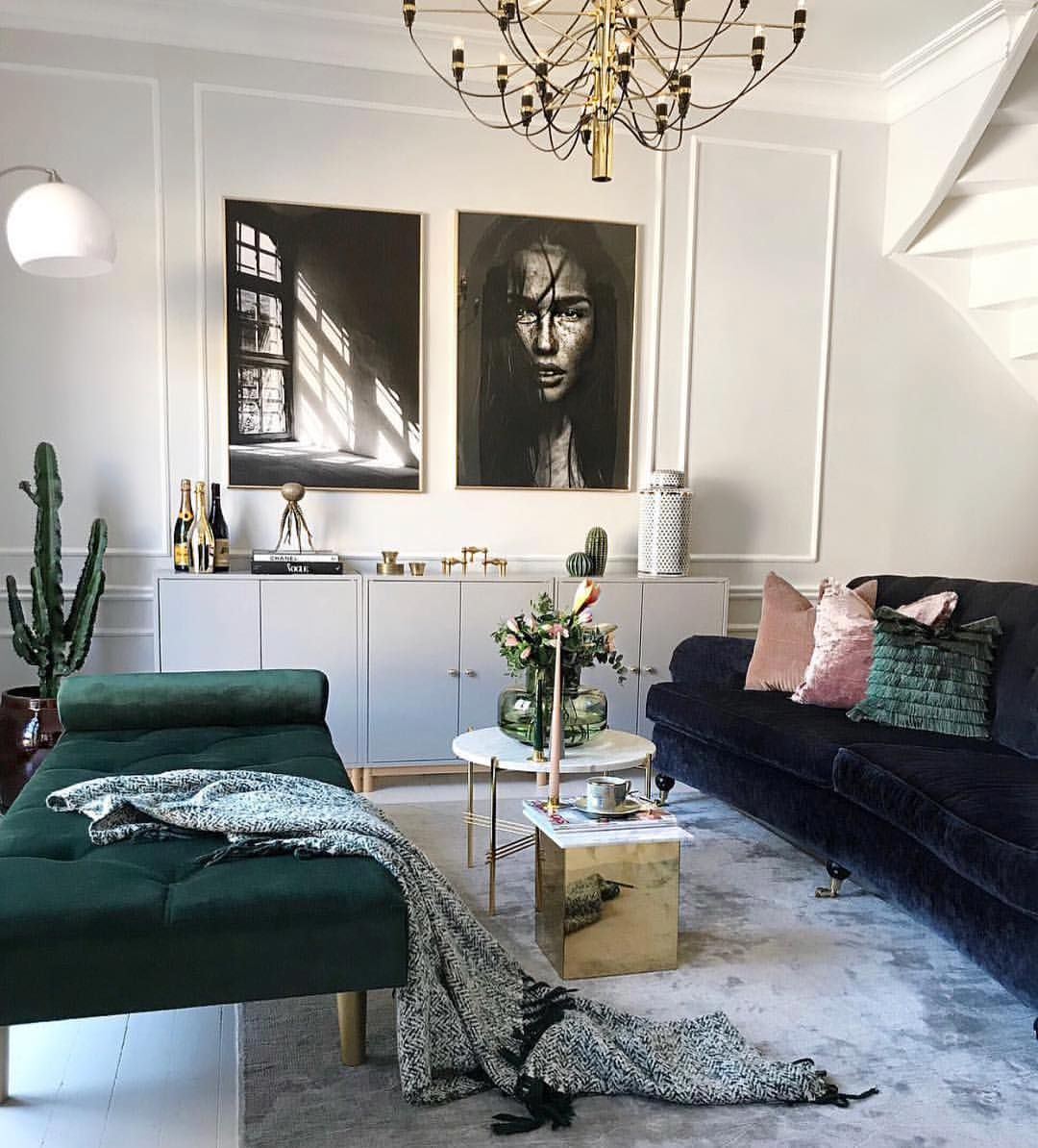 Living Room Makeover Reveal By Decor Gold Designs: Feeling The Jewel Tones With A Touch Of Gold