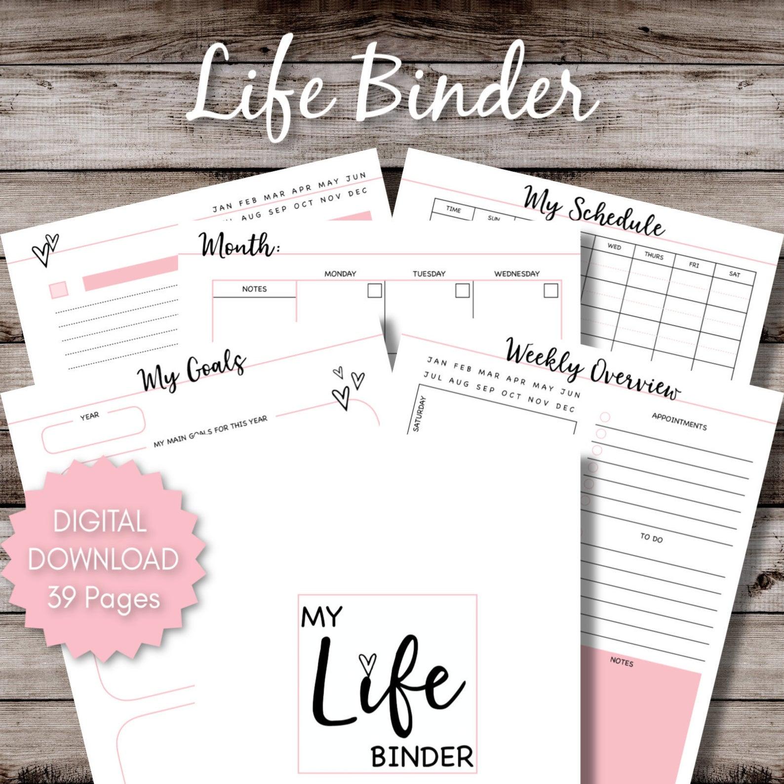 Life Planner Printable