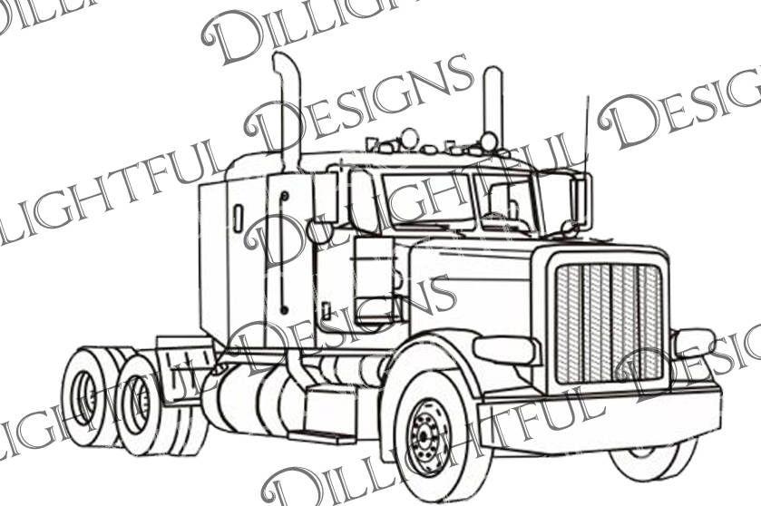 Decal Peterbilt Like Semi Truck Big Rig 18 Wheeler Trucker