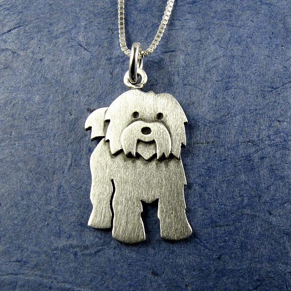 Tibetan Terrier Pendant Necklace Larger Size Tibetan Terrier