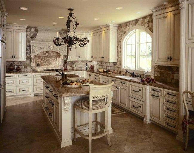 cocina señorial de color beige   cocinas   Pinterest   Cocina ...