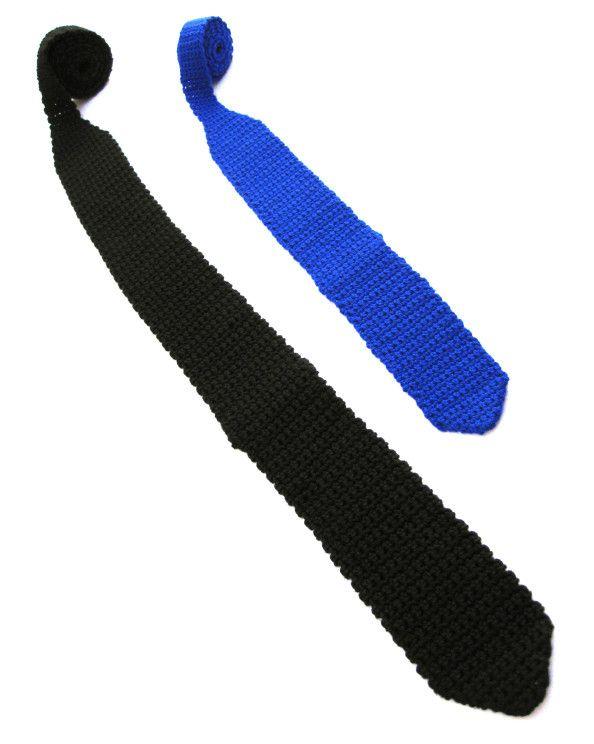 Patrón Corbatas a Crochet | pra facer | Pinterest | Corbatas ...