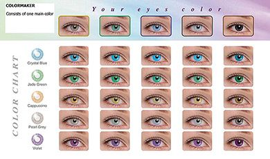 Contact Lenses Color Chart