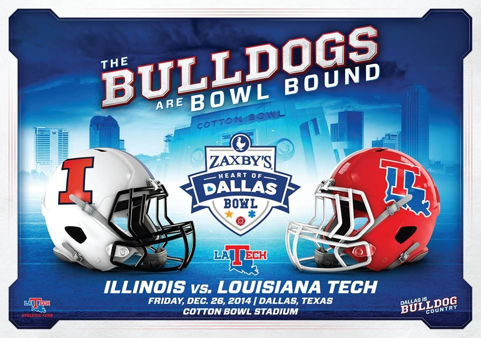 The official bowl poster is in! Come by the LA Tech Ticket