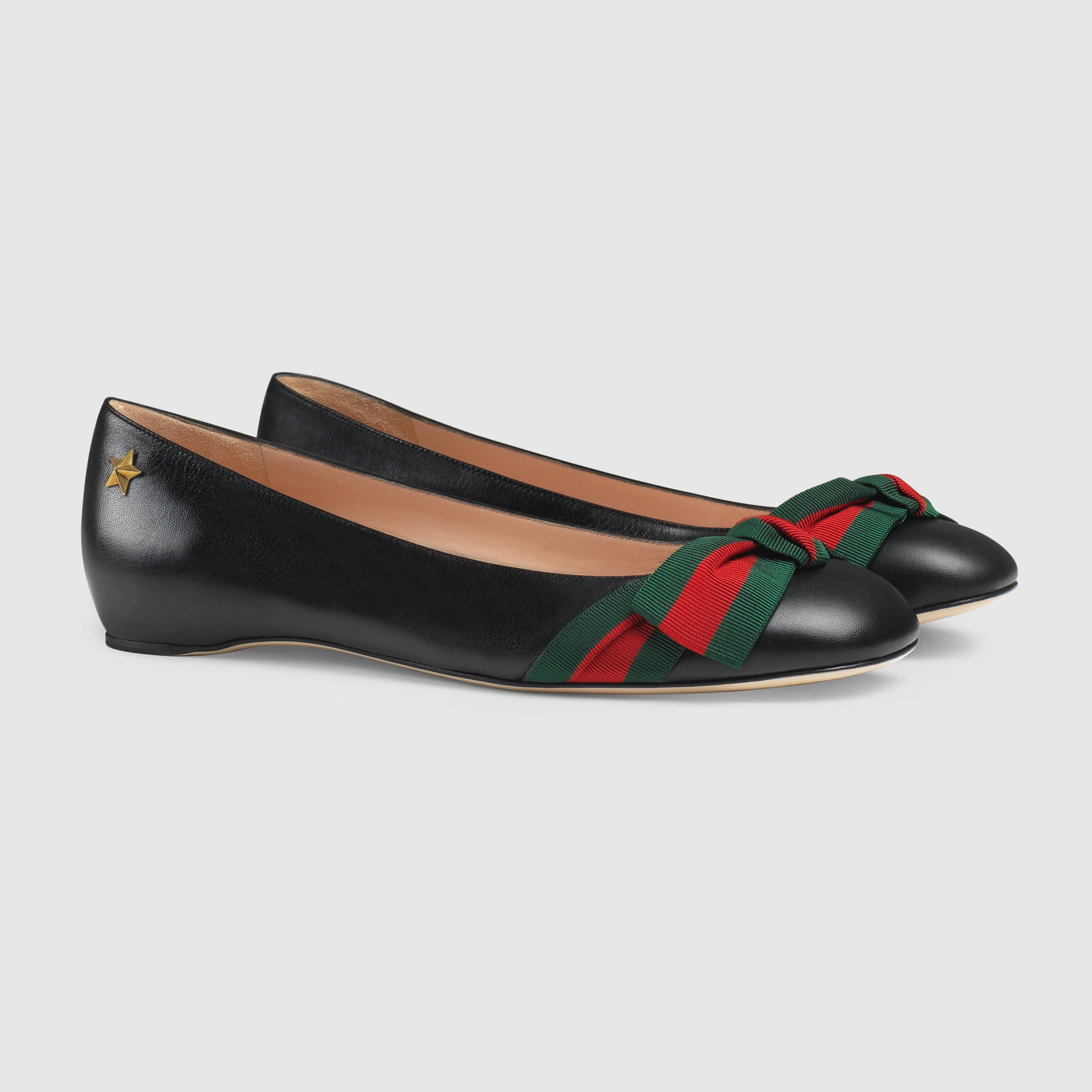 f40cd3589 Gucci Women - Aline leather flat - 432045CQXS01060 | Shoes ...