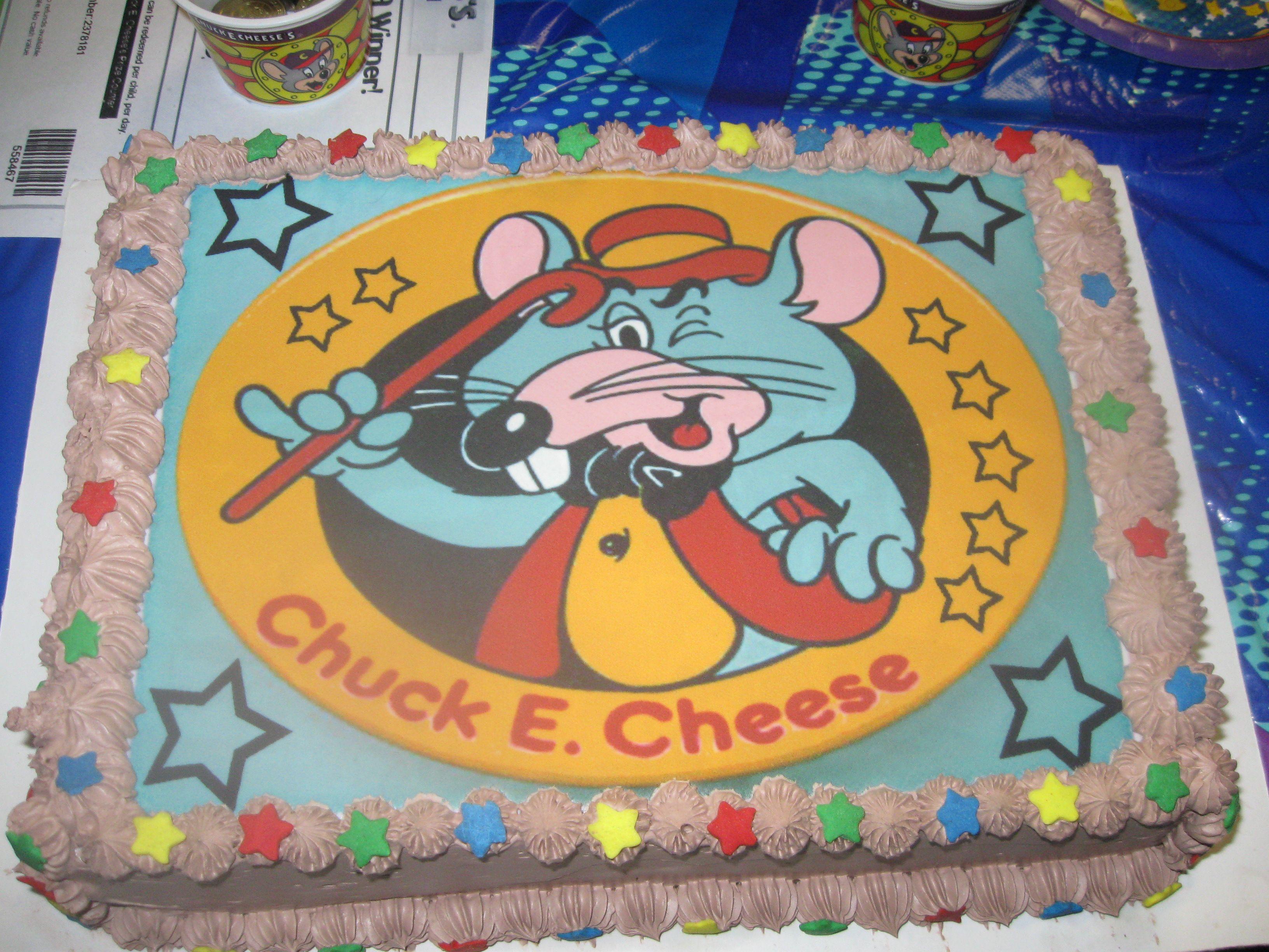 old school Chuck E Cheese cake I made Yummies Pinterest