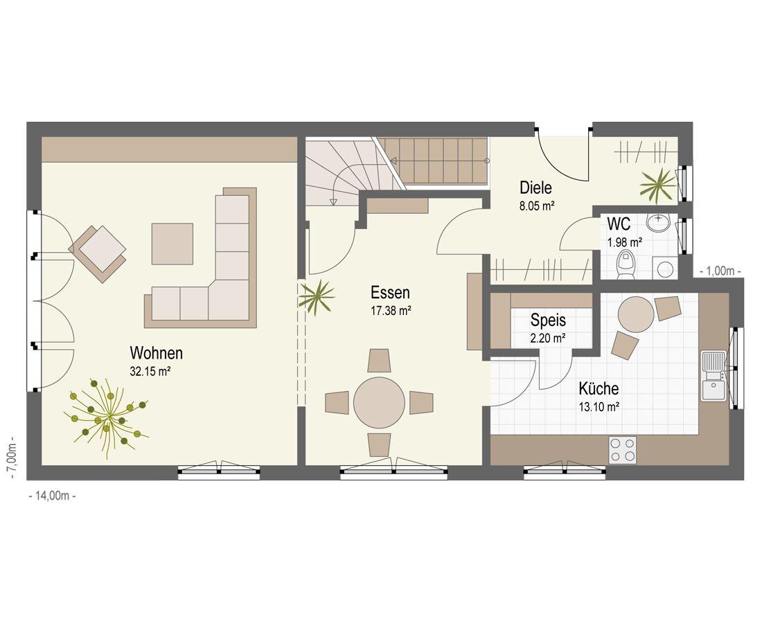 Fertighaus grundrisse einfamilienhaus  Haus Walldorf | Fertighaus Keitel GmbH | Bauen | Pinterest ...