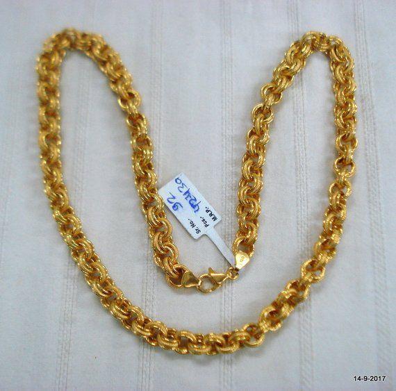 Vintage 22kt Gold Chain Necklace Handmade