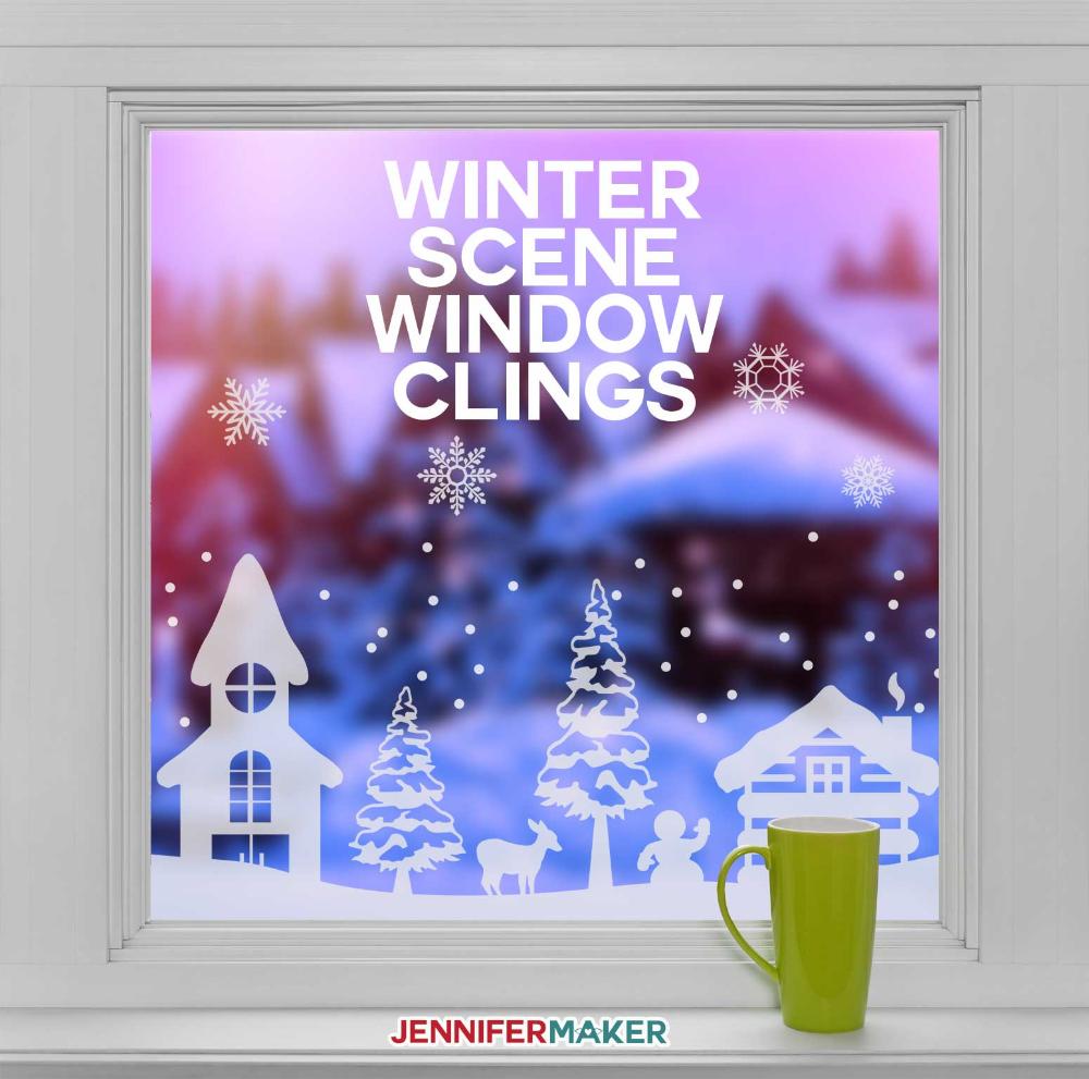 DIY Winter Scene Window Clings Will Brighten Your Outlook