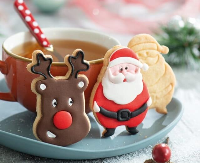 Wykrawacze Mikolaj Renifer 2 Szt Foremka Christmas Ornaments Holiday Decor Novelty Christmas