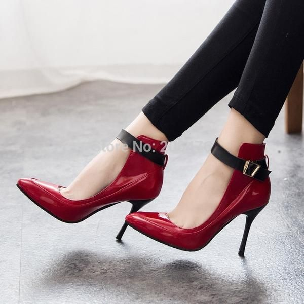 cec12a6451d 2 Colors Fashion Women Pumps Sexy Red Bottom Pointed Toe High Heels Shoes  Woman 2015 Brand New Design Work Party Shoes - Alternative Measures